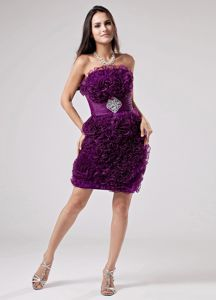 Small Sheath Pageant Dress Decorated pieces ruffles in Willmar