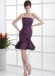 Madison Heights Purple Pleating Sheath Pageant Dress in Mini Length