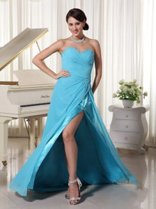Beaded Sweetheart Girl Pageant Dress with High Slit and Corset in USA