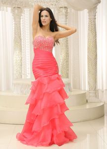 Mermaid Ruched Pageant Dresses in Bodice and Layers form Wilmington