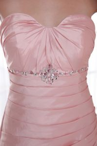 Baby Pink Sweetheart Floor-length Pageant Dresses in Beading form Flint