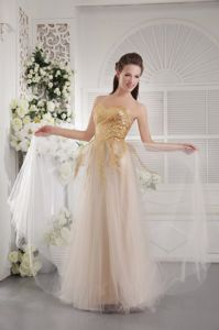 Sweetheart Floor-length Tulle Interview Pageant Suits in Sequins in Ames