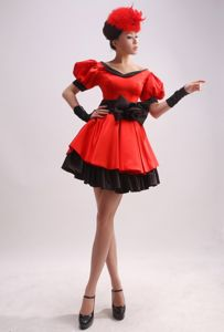 Short Sleeves Beauty Pageant Dresses with Bowknot from Chesterfield