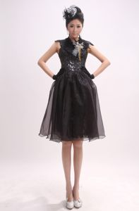 High Neck and Cap Sleeves for 2013 Pageant Dress with Sequin in Ames