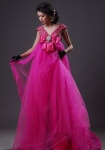 Mermaid Appliqued Strapless Floor-length Pageant Dresses Made in Organza