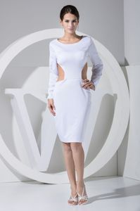 Latest Sheath Scoop Unique Pageant Dress with Cut Outs and Long Sleeve