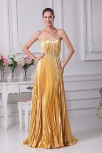 Strapless Pleated Sweep Train Elegant Pageant Dresses Best Seller in Salem