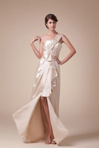 Hottest One Shoulder High Slit Long Prom Pageant Dress Made in Phoenix