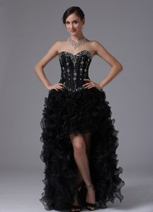 High Low Sweetheart Special Ruffled Layers Modern Pageant Dress with Beading