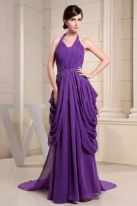 Special Appliqued Halter Ruched Pageant Evening Dresses Popular in Austin