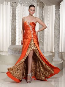 Ruched Pageant Dresses For Miss USA with Slits and Beading