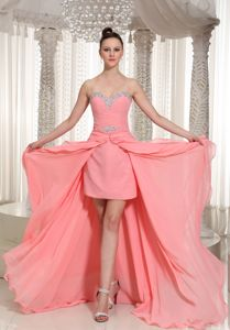 Sweetheart High-low 2013 Girl Pageant Dresses in Watermelon