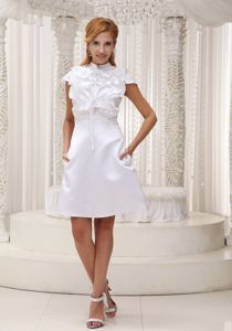 Cap Sleeves Short Pageant Dresses with Ruffled Layers in White