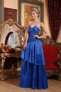 Sweetheart Ruched Interview Pageant Dresses in Royal Blue