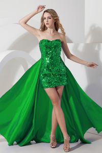 Special Green Sweetheart Prom Pageant Dresses with Sequins
