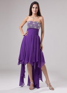 Asymmetrical Beaded Sweetheart Purple Dresses For Pageants In Larbert