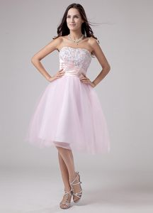 Unique Baby Pink Sweetheart Prom Pageant Dress with Beading and Lace