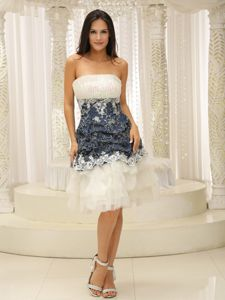 Appliqued Knee-length Tulle Natural Beauty Pageants Dress in Santander