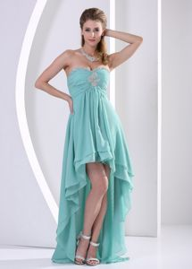 High-low Sweetheart Pageant Dresses with Ruches for Girls From Medelin