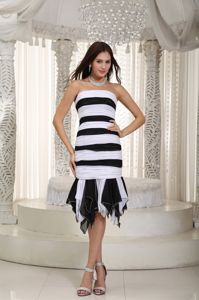 Strapless Ruched Pageant Dresses for Girls in White and Black From Acton