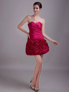 A-Line Sweetheart Pageant Dresses with Beadings in Hot Pink in Eufaula