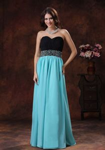 Aqua Blue Sweetheart Beaded Pageant Dress with Waist from Augusta