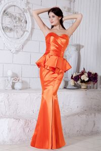 Orange Red Mermaid Sweetheart Miss Mississippi Pageant Dress in Ruches from Dover