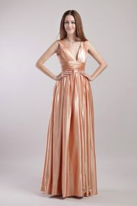 Elegant Empire V-neck Floor-length Dresses For Pageants In Njin Taffeta from Butler