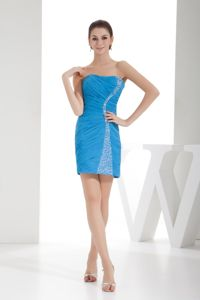 Strapless Beaded and Ruched Miss Mississippi Pageant Dress in Sweden