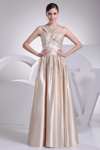 Floor-length V-neck Pageant Gowns with Ruching and Beading in Tennessee