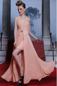 Beauteous Sleeveless Clasp Handle Floor Length Beading and Appliques Pageant Gowns