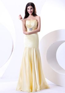 Affordable Light Yellow Ruched Long Beauty Pageant Dresses in Lutz Florida