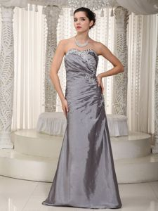 Low Price Lace-up Appliqued Gray Pageant Dresses for Miss America