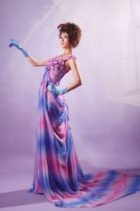 Custom Made Ombre color Pageant Dresses with Flowers for Miss America