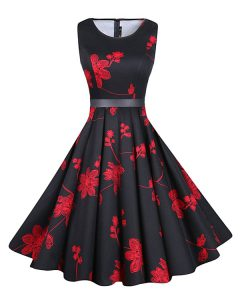 Scoop Knee Length Red And Black Pageant Dress Chiffon Sleeveless Sashes ribbons and Pattern