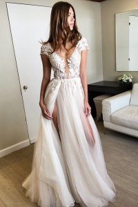 White Cap Sleeves Floor Length Lace Lace Up Pageant Gowns
