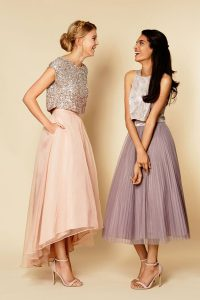 Simple Organza Scoop Sleeveless Zipper Sequins High School Pageant Dress in Pink