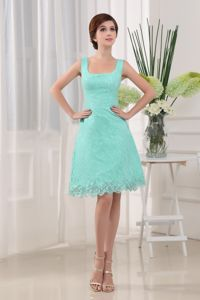 Mini-length Lace 2013 Pageant Dresses For Girls in Apple Green in Lisle