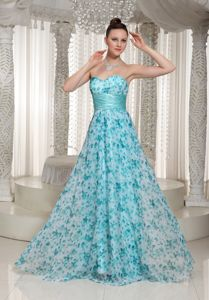 Sweetheart Floor-length Pageant Girl Dresses with Printing in Glen Ellyn