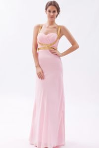 Straps Sequined Pageant Dresses for Miss USA in Baby Pink in Antioquia