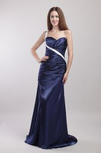 One Shoulder Ruched Youth Pageant Dresses with Brush Train in Angwin