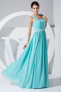 Mint Colored with Beaded Waist Natural Beauty Pageants Dress in Alamo
