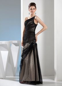 One Shoulder Ruched and Beaded Interview Pageant Suits in Casa Grande