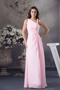 Column Style One Shoulder Cute Youth Pageant Dresses in Pink in Arlington