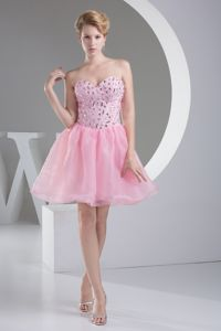 Lovely Sweetheart Princess Short Pageant Girl Dresses with Beadings in Ajo