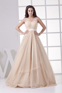 Romantic Princess V-neck Accent Long Pageant Dresses in Aguila for 2013